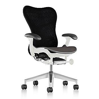 Slate Grey Fabric / Semi-Polished Base / Studio White Frame / Graphite/Black Latitude Back / Black Arm