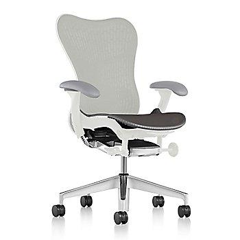 Slate Grey Fabric / Semi-Polished Base / Studio White Frame / Studio White/Slate Grey Latitude Back / Fog Arm