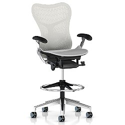Mirra 2 Office Stool, Butterfly Back with Adjustable Arms - Lumbar Support