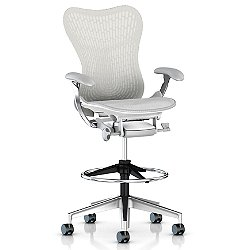 Mirra 2 Office Stool, Butterfly Back with Fixed Arms