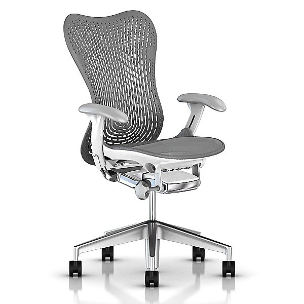Mirra 2 Office Chair Triflex Back with Fixed Arms-Lumbar Support
