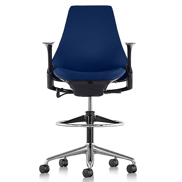 Sayl Stool-Upholstered with Height Adjustable Arms