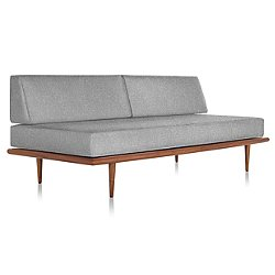 Nelson Daybed Wood Taper Base - Two Bolsters