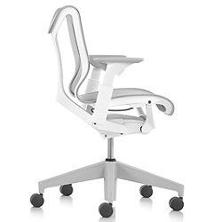 Cosm Low Back Chair with Height Adjustable Arms