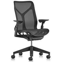 Cosm Mid Back Chair with Height Adjustable Arms