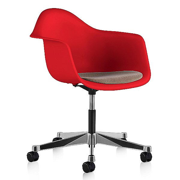 Eames Molded Plastic Task Armchair with Seat Pad