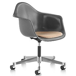 Eames Molded Fiberglass Task Armchair with Upholstered Seat Pad