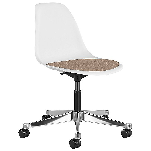 Eames Molded Plastic Task Chair with Upholstered Seat Pad