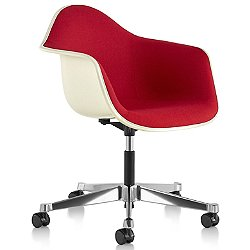 Eames Molded Plastic Task Armchair Fully Upholstered
