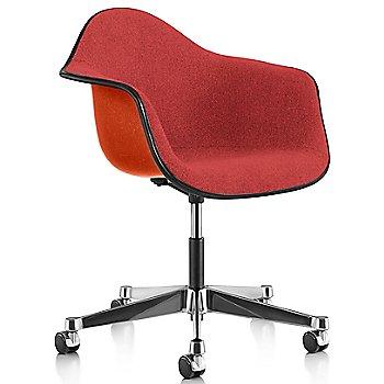 Black Edge finish / Chrome Caster finish / Red Orange frame / Hopsak Crimson fabric