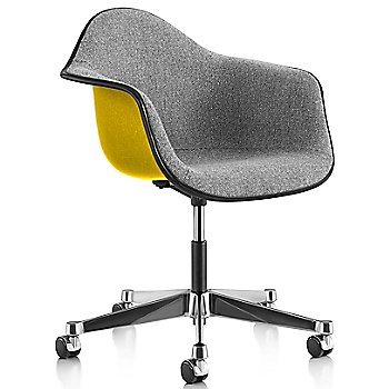 Black Edge finish / Chrome Caster finish / Lemon Yellow frame / Crepe Slate Grey fabric