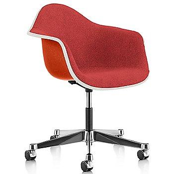 White Edge finish / Chrome Caster finish / Red Orange frame / Hopsak Crimson fabric
