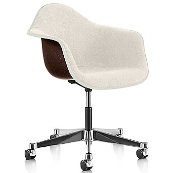 White Edge finish / Chrome Caster finish / Seal Brown frame / Parchment fabric