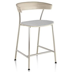 Leeway Stool with Upholstered Seat