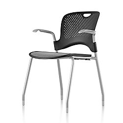 Caper Stacking Chair (Fixed Arms/Black) - OPEN BOX RETURN