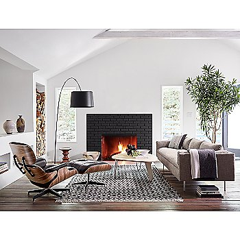 Noguchi Rudder Table with Eames Lounge Chair, Eames Ottoman and Eames Walnut Stools
