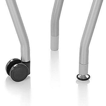 Casters and glides, detail