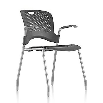 Metallic Silver Frame Finish /  Graphite Seat/Back Finish / Silver Grey Arm Finish