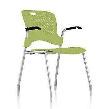Metallic Silver Frame Finish /  Green Apple Seat/Back Finish / Black Arm Finish