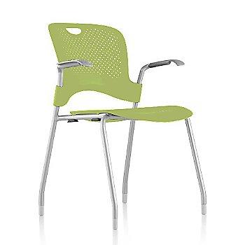 Metallic Silver Frame Finish /  Green Apple Seat/Back Finish / Silver Grey Arm Finish