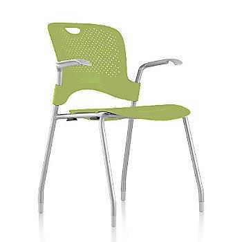 Metallic Silver Frame Finish /  Green Apple Seat/Back Finish / Fog Arm Finish
