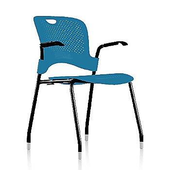 Metallic Silver Frame Finish /  Turquoise Seat/Back Finish / Black Arm Finish
