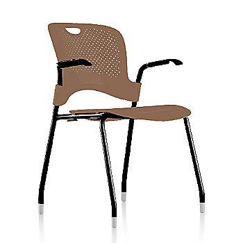Metallic Silver Frame Finish /  Cappuccino Seat/Back Finish / Black Arm Finish