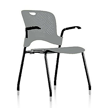 Metallic Silver Frame Finish /  Metallic-Silver Seat/Back Finish / Black Arm Finish