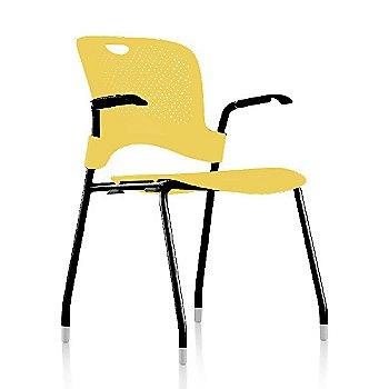 Metallic Silver Frame Finish /  Lemon Seat/Back Finish / Black Arm Finish