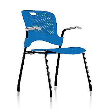 Metallic Silver Frame Finish /  Berry-Blue Seat/Back Finish / Silver Grey arm finish
