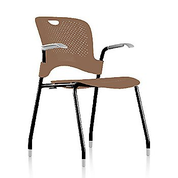 Metallic Silver Frame Finish /  Cappuccino Seat/Back Finish / Silver Grey arm finish