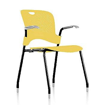 Metallic Silver Frame Finish /  Lemon Seat/Back Finish / Silver Grey arm finish