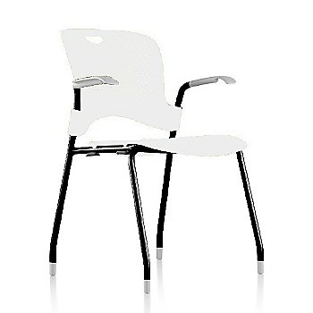 Metallic Silver Frame Finish /  Studio-White Seat/Back Finish / Fog arm finish