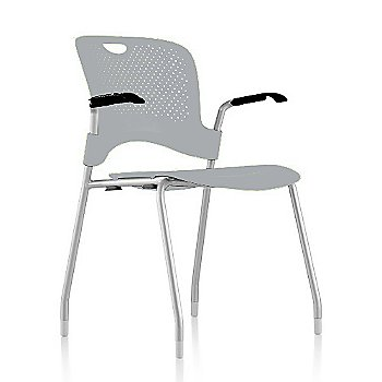 Metallic Silver Frame Finish /  Fog Seat/Back Finish / Black Arm Finish