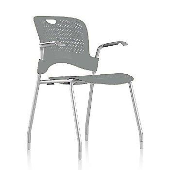 Metallic Silver Frame Finish /  Metallic-Silver Seat/Back Finish / Silver Grey arm finish
