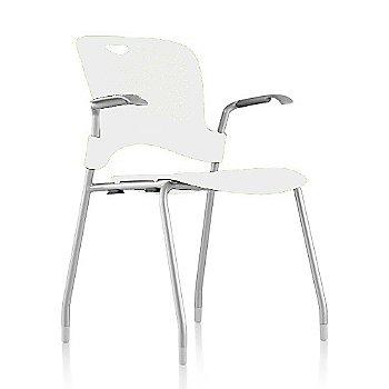 Metallic Silver Frame Finish /  Studio-White Seat/Back Finish / Silver Grey arm finish