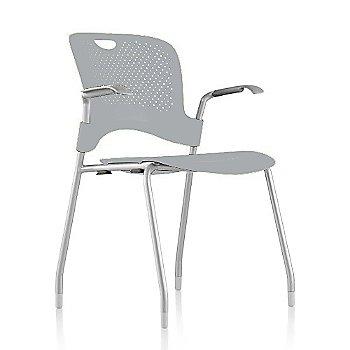 Metallic Silver Frame Finish /  Fog Seat/Back Finish / Silver Grey arm finish