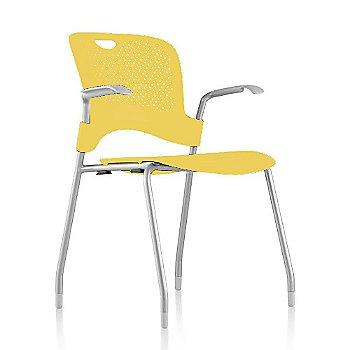 Metallic Silver Frame Finish /  Lemon Seat/Back Finish / Fog arm finish