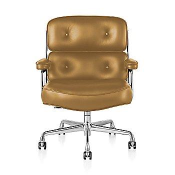 Polished Aluminum Base finish / Polished Aluminum Frame finish / Open Line Leather: Camel