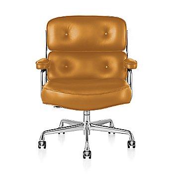 Polished Aluminum Base finish / Polished Aluminum Frame finish / Open Line Leather: Orange