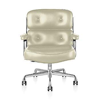 Polished Aluminum Base finish / Polished Aluminum Frame finish / Open Line Leather: Magnolia
