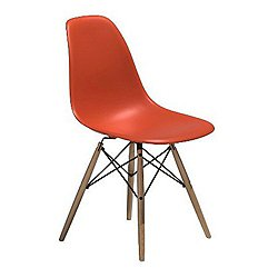 Eames Molded Plastic Side Chair with Dowel-Leg Bases