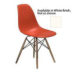 Eames Molded Plastic Side Chair(Black/Walnut/White)-OPEN BOX