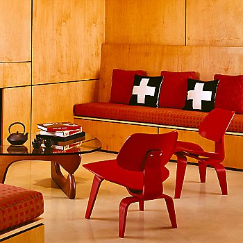 With Noguchi Coffee Table