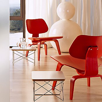 With Eames Wire-Base table