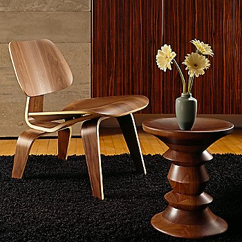 Lounge paired with Walnut Stool C