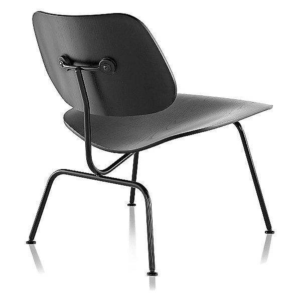 Eames Molded Plywood Lounge Chair with Metal Legs