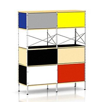 Zinc Frame/4 Units High, 2 Units Wide frame finish, Multi-Color