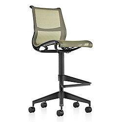 Setu Work Stool, Graphite Column