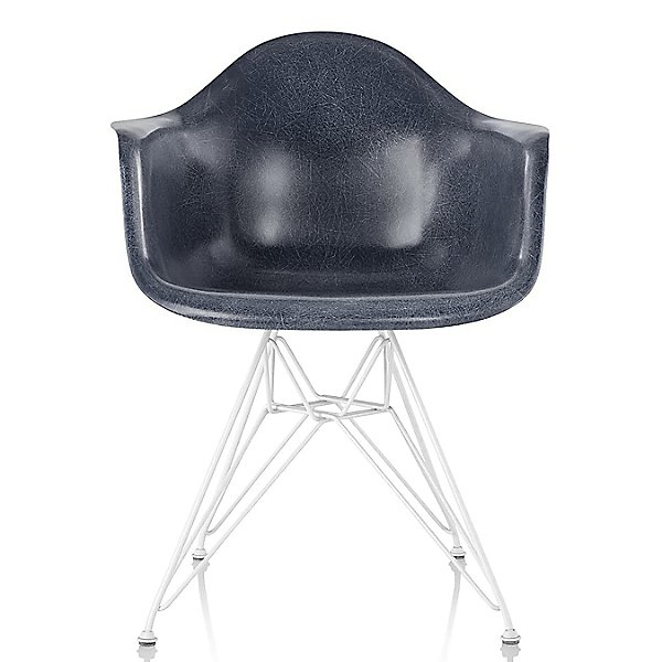 Eames Molded Fiberglass Armchair with Wire Base